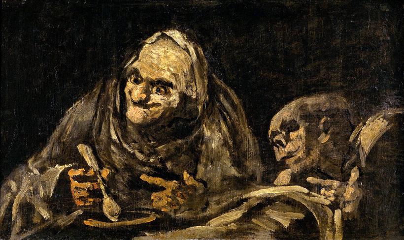 Два старика вкушают суп